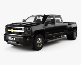Chevrolet Silverado 3500HD Crew Cab Long Box High Country Dually Diesel 2017 3D model