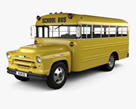 Chevrolet 4500 School Bus 1956 3D model