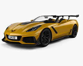 Chevrolet Corvette (C7) convertible ZR1 2017 3D model