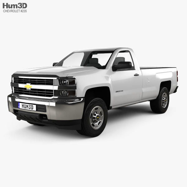 Chevrolet Silverado 2500HD Regular Cab Long Box WT 2017 3D