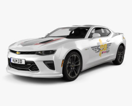 Chevrolet Camaro SS Indy 500 Pace Car with HQ interior 2016 3D model