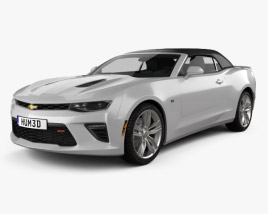Chevrolet Camaro SS convertible with HQ interior 2016 3D model