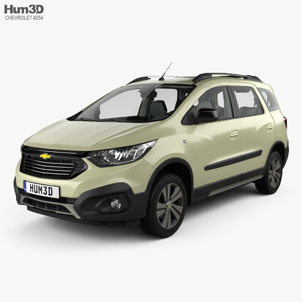 Chevrolet Spin Active With Hq Interior 2018 3d Model Vehicles On Hum3d