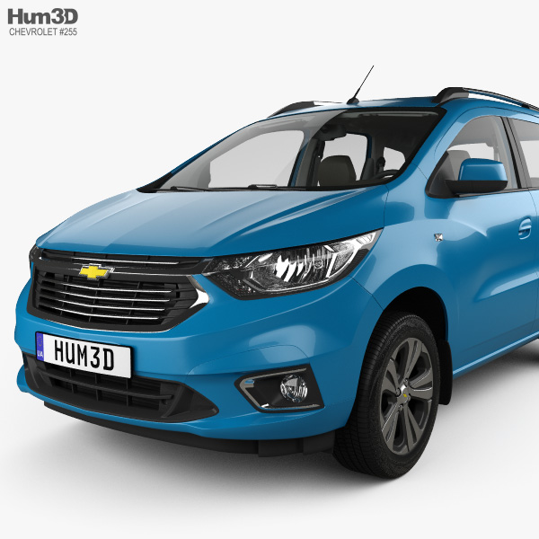 Chevrolet Spin Ltz With Hq Interior 2018 3d Model Vehicles On Hum3d