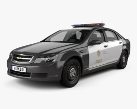 Chevrolet Caprice Police with HQ interior 2016 3D model
