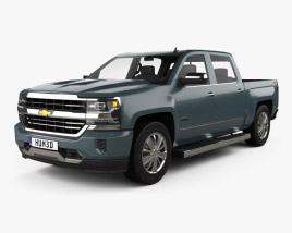 Chevrolet Silverado 1500 Crew Cab Short Box High Country 2018 3D model