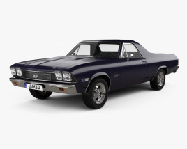 Chevrolet El Camino SS 396 1968 3D model