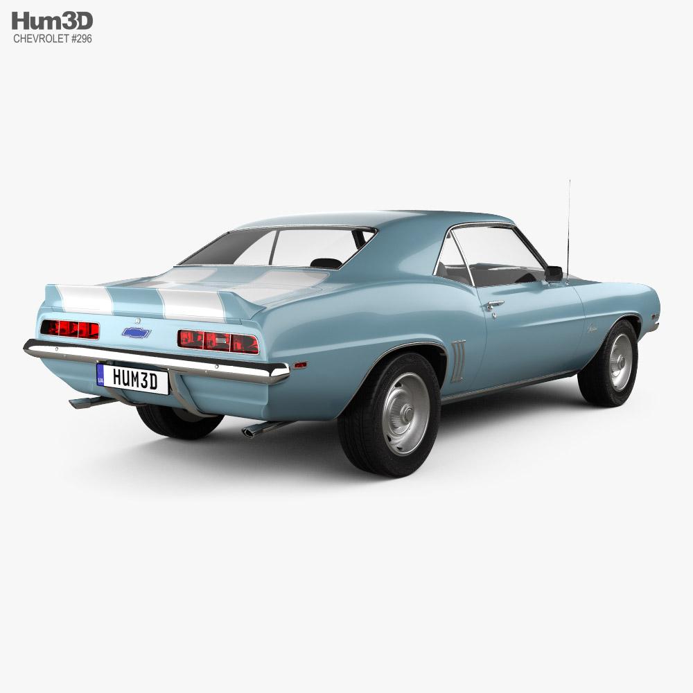 Chevrolet Camaro 350 coupe 1969 3d model