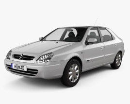 Citroen Xsara 5-door hatchback 2000 3D model