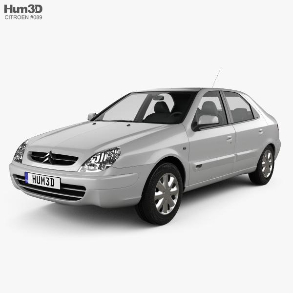 Peugeot 108 3 Door 1 0 Active Hatchback: Citroen Xsara 5-door Hatchback 2000 3D Model