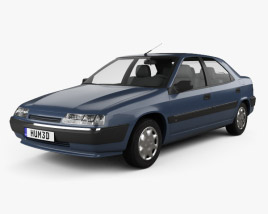 Citroen Xantia hatchback 1994 3D model
