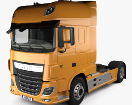 DAF XF 510 Tractor Truck 2-axle with HQ interior 2013 3D model