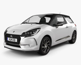 DS3 Performance Line hatchback 2016 3D model