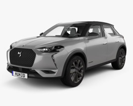 DS 3 Crossback E-Tense with HQ interior 2019 3D model