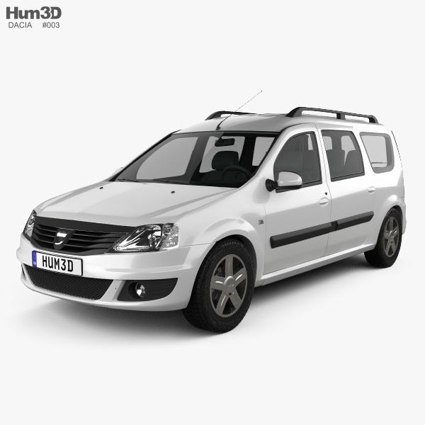 dacia logan mcv 2011 3d model vehicles on hum3d. Black Bedroom Furniture Sets. Home Design Ideas