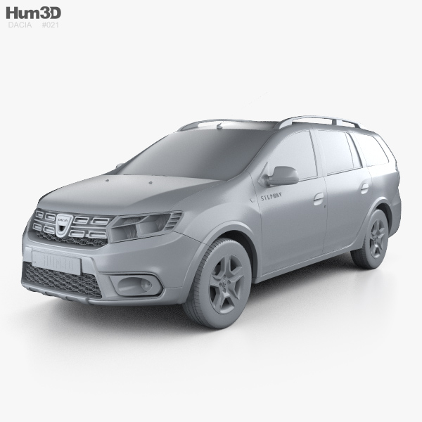 dacia logan mcv stepway 2017 3d model hum3d. Black Bedroom Furniture Sets. Home Design Ideas