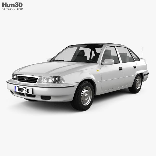 Daewoo Lemans  Nexia  Cielo  Racer  Sedan 1996 3d Model