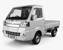 Daihatsu Hijet Truck with HQ interior 2014 3D model