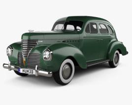 DeSoto Deluxe Touring Sedan 1939 3D model