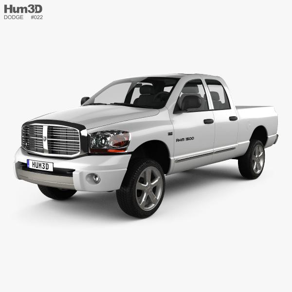 Cab Options Dodge Ram: Dodge Ram 1500 Quad Cab Laramie 140-inch Box 2008 3D Model
