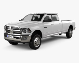 Dodge Ram 2500 Crew Cab Big Horn 8-foot Box 2012 3D model