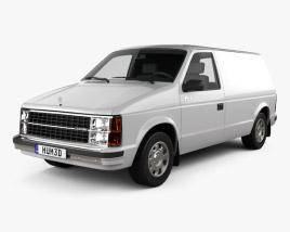 Dodge Mini Ram Van 1984 3D model