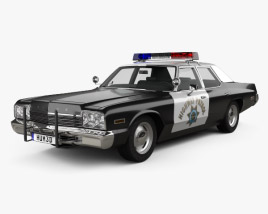 Dodge Monaco Police 1974 3D model