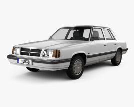 Dodge Aries K sedan 1988 3D model