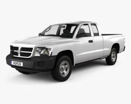 Dodge Dakota Extended Cab 2007 3D model