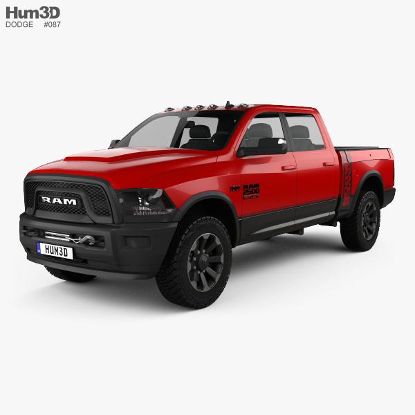 dodge ram power wagon 2017 3d model vehicles on hum3d. Black Bedroom Furniture Sets. Home Design Ideas