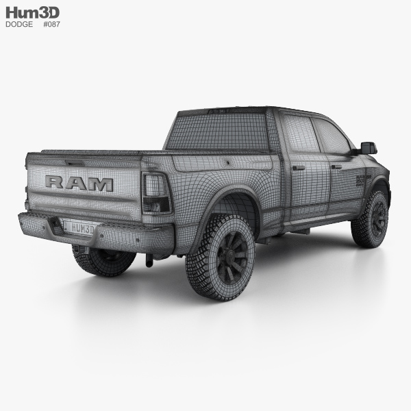 dodge ram power wagon 2017 3d model hum3d. Black Bedroom Furniture Sets. Home Design Ideas