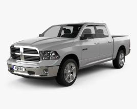 Dodge Ram 1500 Crew Cab Big Horn 2017 3D model