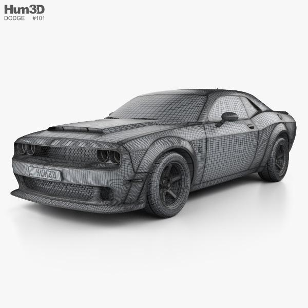 Dodge Challenger Srt Demon 2018 3d Model Vehicles On Hum3d
