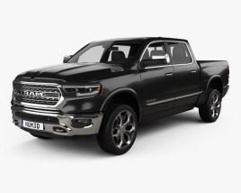 Dodge Ram 1500 Crew Cab Limited 5-foot 7-inch Box 2019 3D model