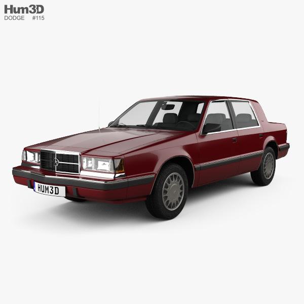 Dodge Dynasty 1993 3D Model