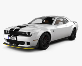 Dodge Challenger SRT Hellcat WideBody with HQ interior 2018 3D model