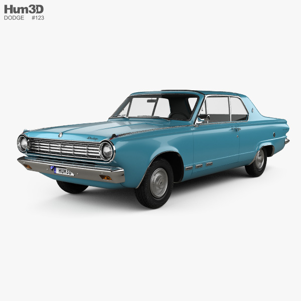 Dodge Dart GT Hardtop Coupe 1965 3D Model