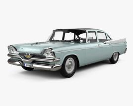 Dodge Coronet 4-door sedan 1957 3D model
