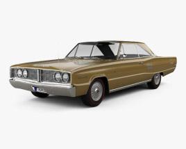 Dodge Coronet 500 hardtop 2-door 1966 3D model