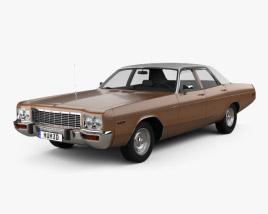 Dodge Polara Custom sedan 1973 3D model