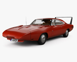 Dodge Charger Daytona Hemi with HQ interior 1969 3D model