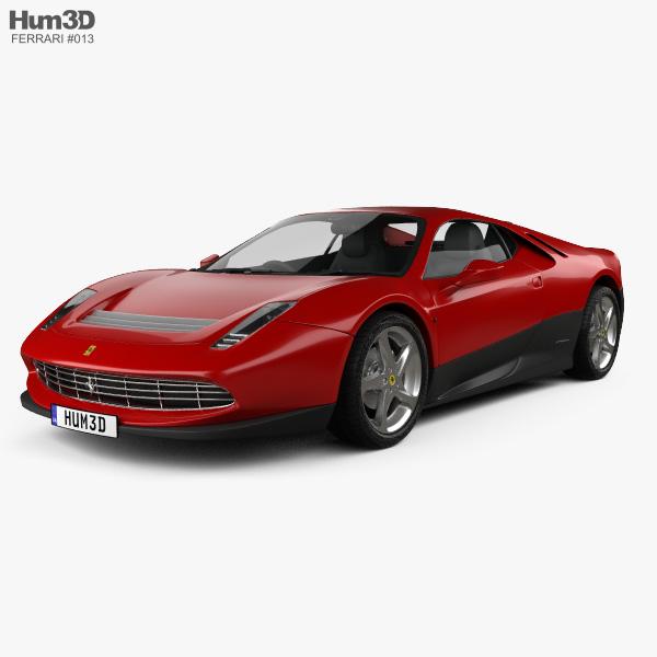ferrari sp12 ec 2012 3d model vehicles on hum3d. Black Bedroom Furniture Sets. Home Design Ideas