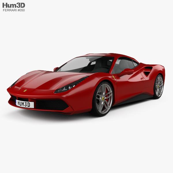 Ferrari 488 Gtb: Ferrari 488 GTB 2016 3D Model