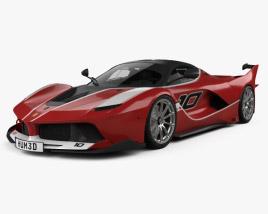 Ferrari FXX K with HQ interior 2015 3D model
