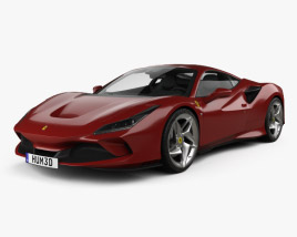 Ferrari F8 Tributo with HQ interior 2019 3D model