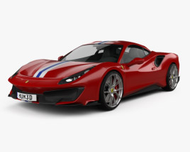 Ferrari 488 Pista 2018 3D model
