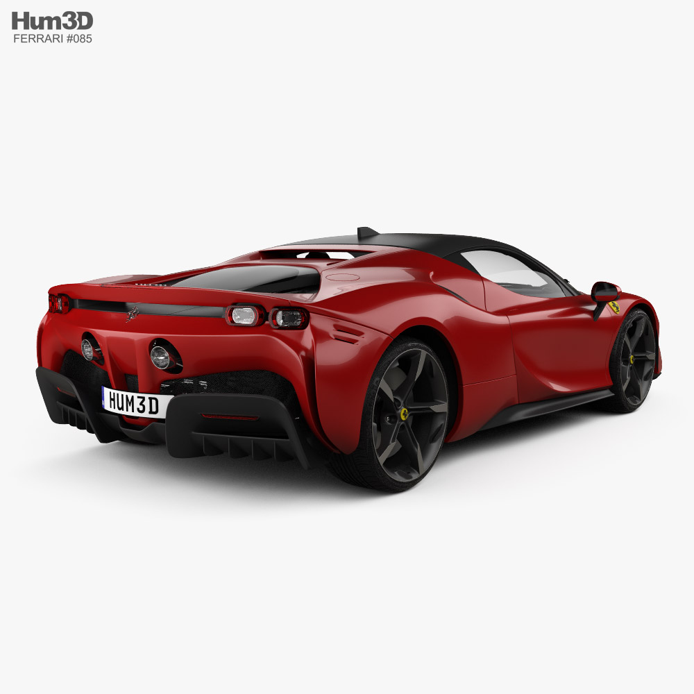 Ferrari SF90 Stradale with HQ interior and engine 2020 3d model