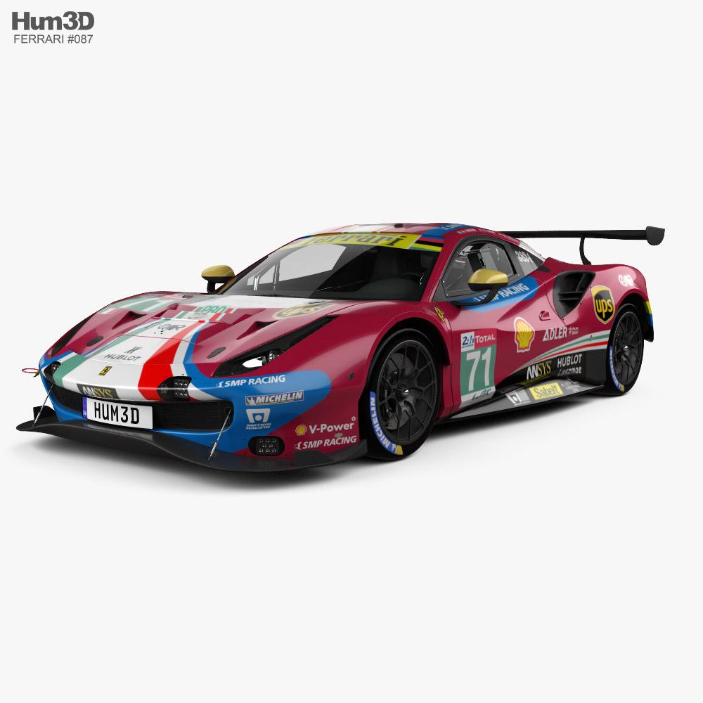 Ferrari 488 GTE 2019 3d model