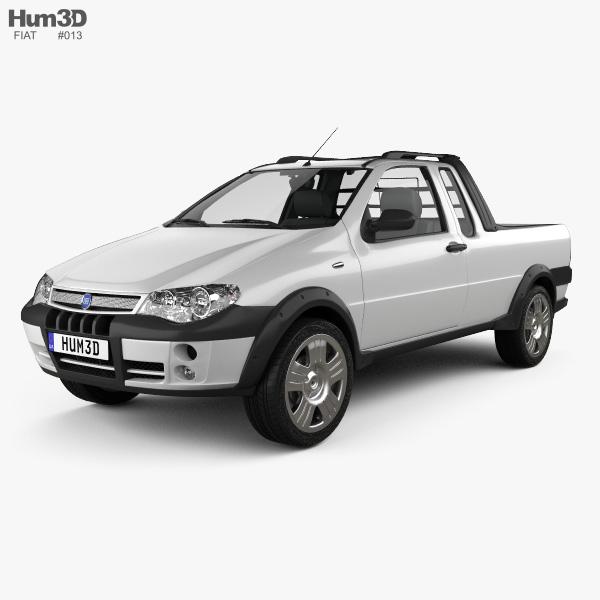 fiat strada iii 2004 3d model vehicles on hum3d. Black Bedroom Furniture Sets. Home Design Ideas