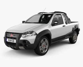 Fiat Strada Crew Cab Adventure 2012 3D model